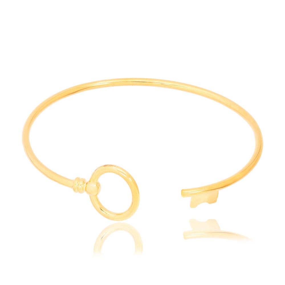 Bracelete Chave Folheado Ouro 18K