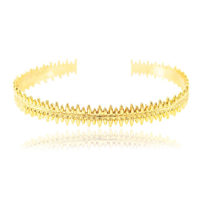 Bracelete Folheado Ouro 18K Detalhado