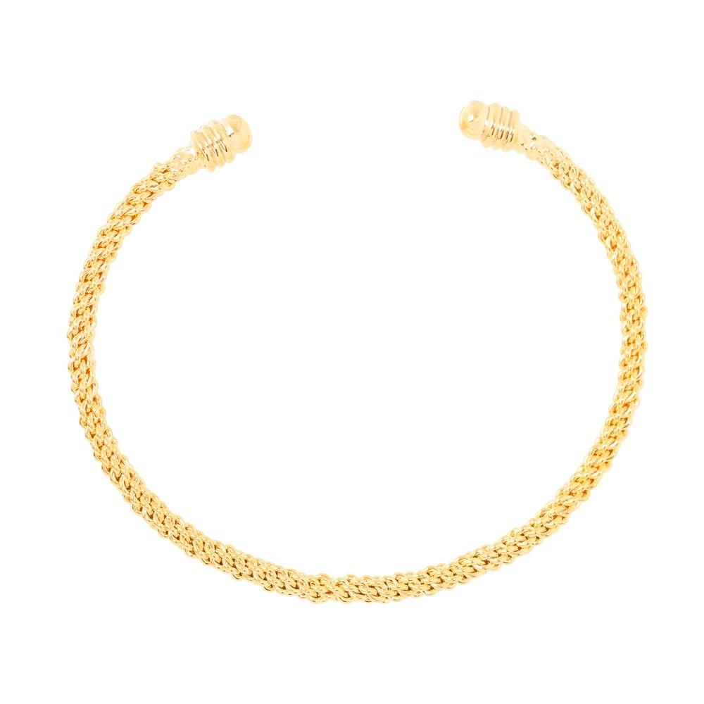 Bracelete Folheado Ouro 18K Fios Trançados
