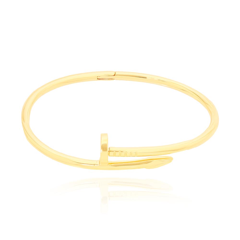 Bracelete Prego Liso Folheado Ouro 18K