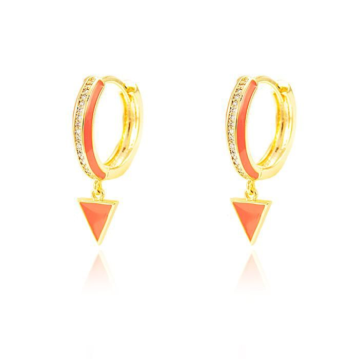 Brinco Argola Micro Zircônia Cristal Folheado Ouro