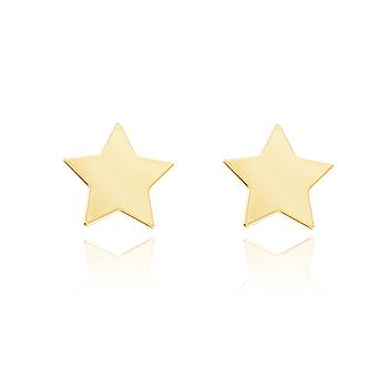 Brinco Estrela Folheado Ouro 18K