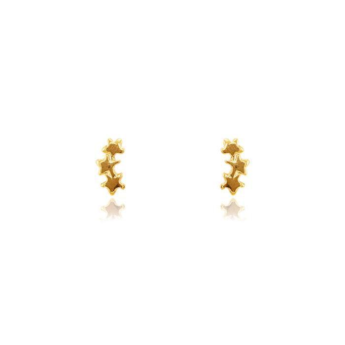 Brinco Infantil Folheado Ouro 18K Ear Cuff Estreli