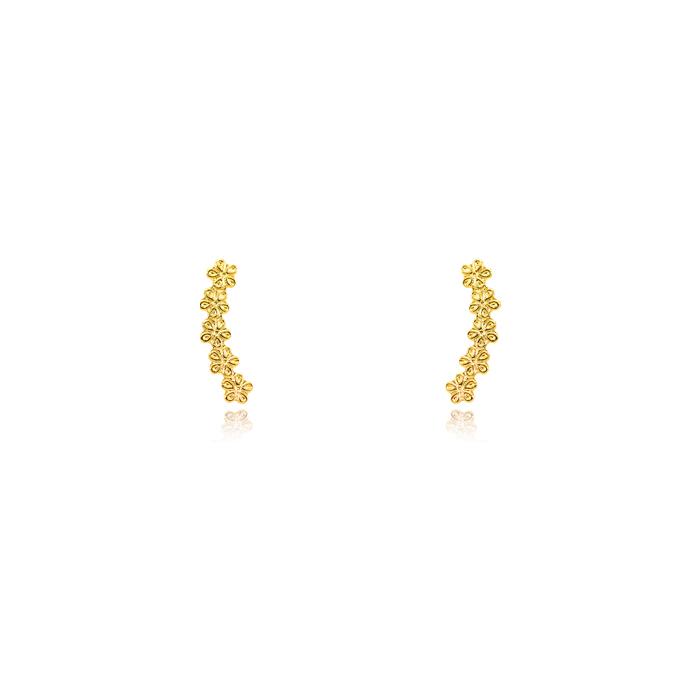 Brinco Infantil Folheado Ouro 18K Ear Cuff Florzin
