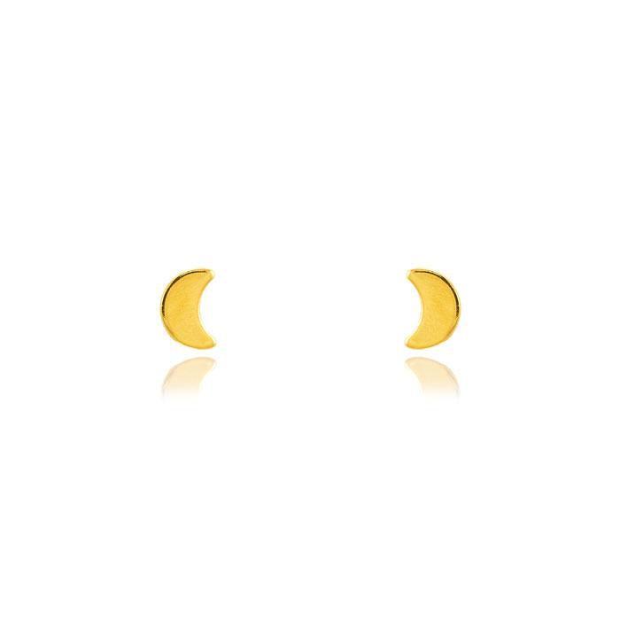 Brinco Infantil Folheado Ouro 18K Lua Lisa