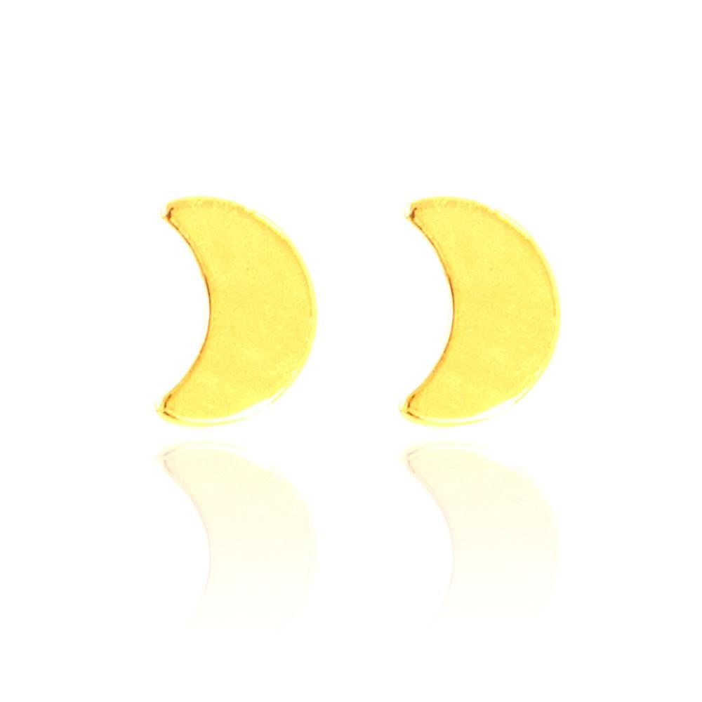 Brinco Lua Minguante Folheado Ouro 18K
