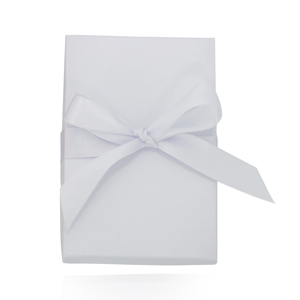 Caixa de Presente Branca G com Fita