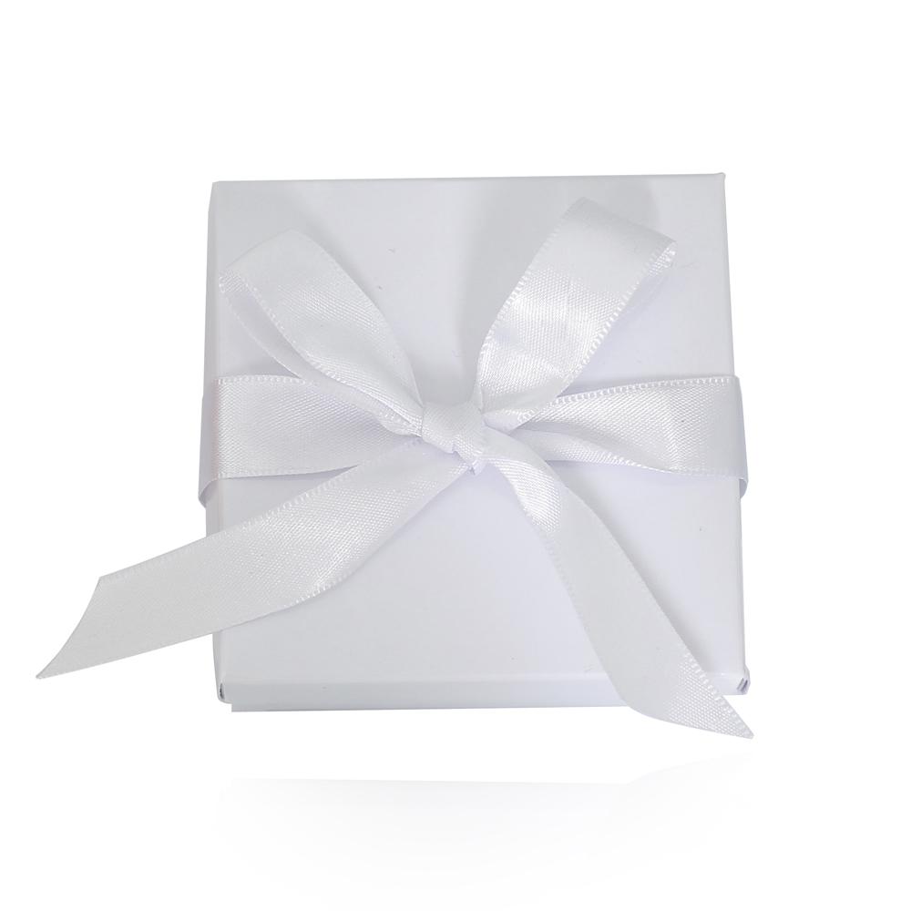 Caixa de Presente Branca M com Fita