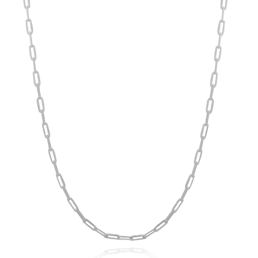 Colar Cartier Elos Pequenos Banhado a Prata