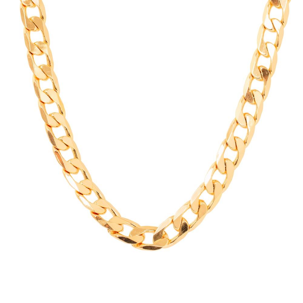 Colar Choker Elos Lisos com Detalhes amassados  Folheado Ouro 18K