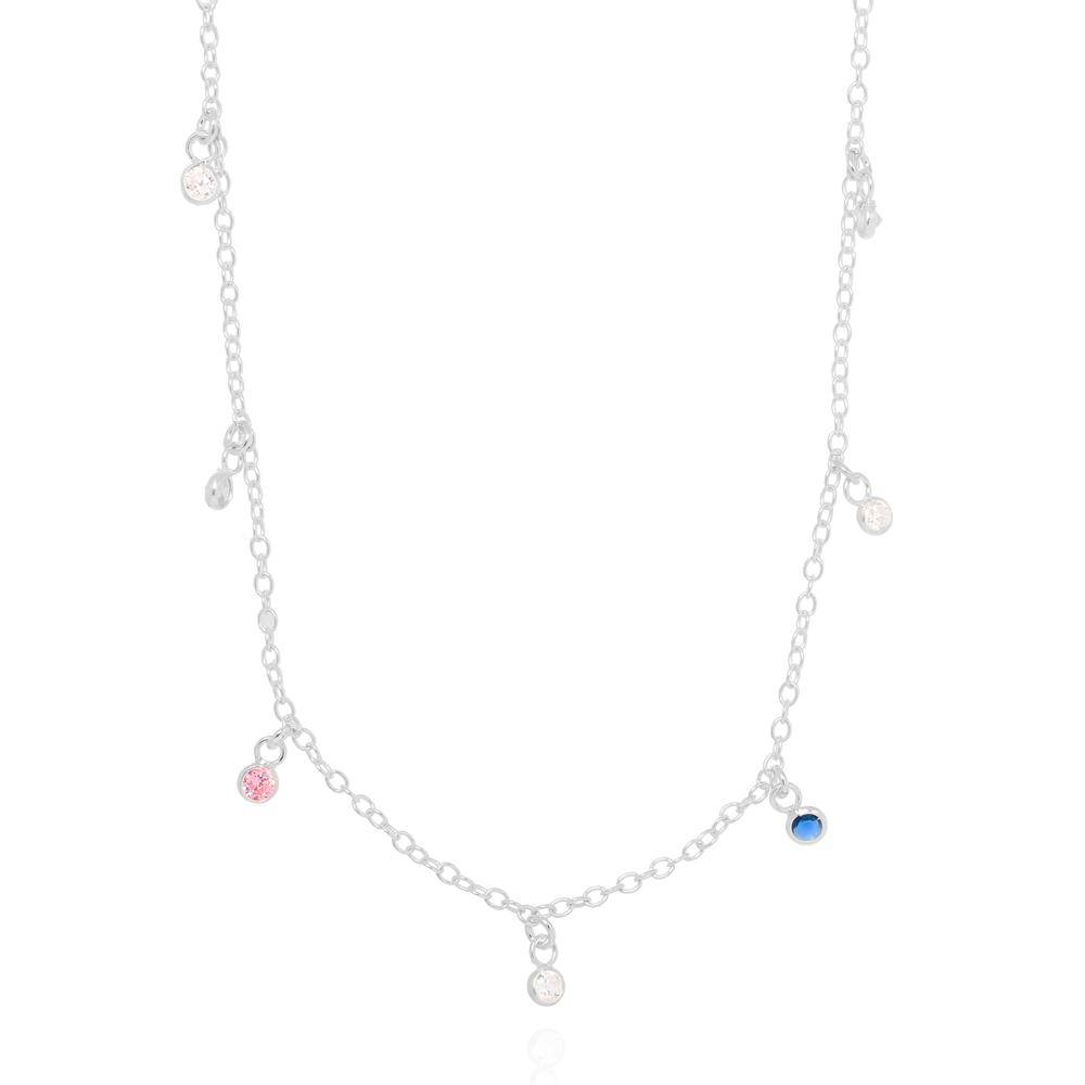 Colar Choker Tiffany Prata 925 com Zircônias Cristais e Coloridas
