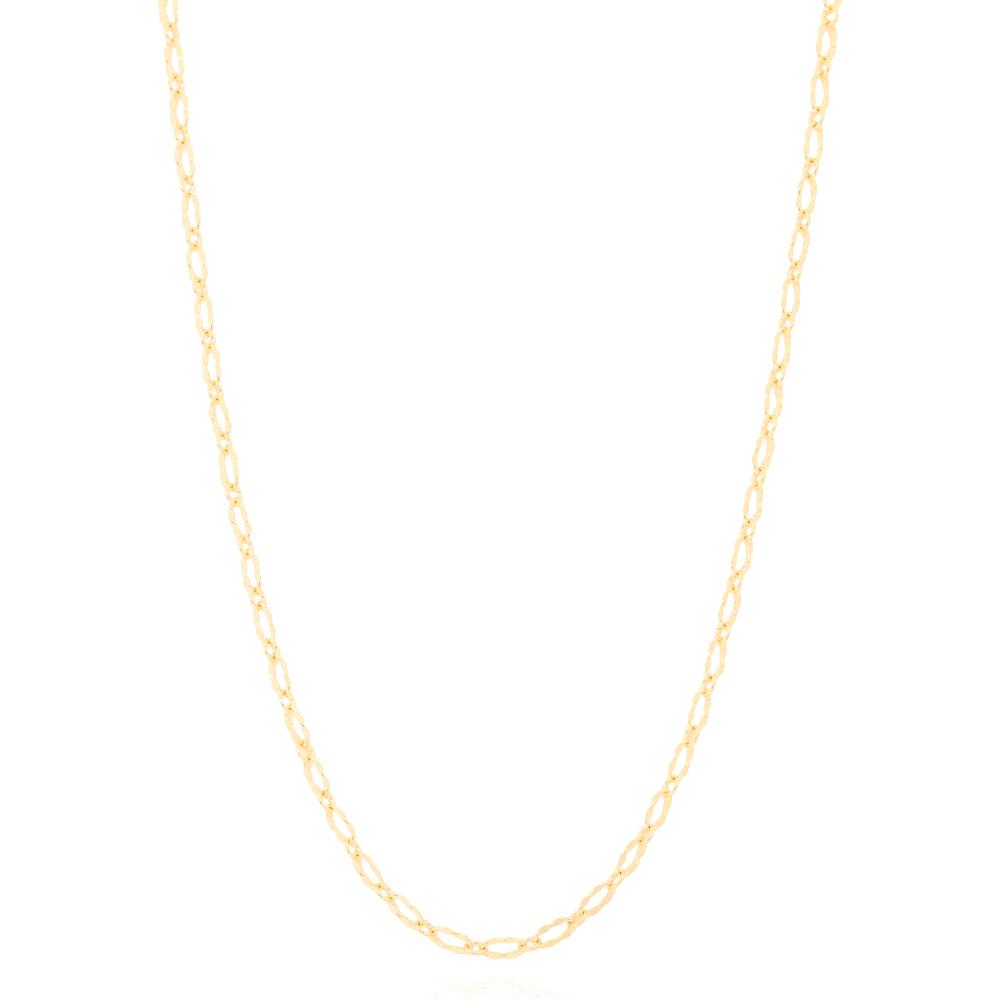 Colar Folheado Ouro 18K com Elos Pequenos Detalhados