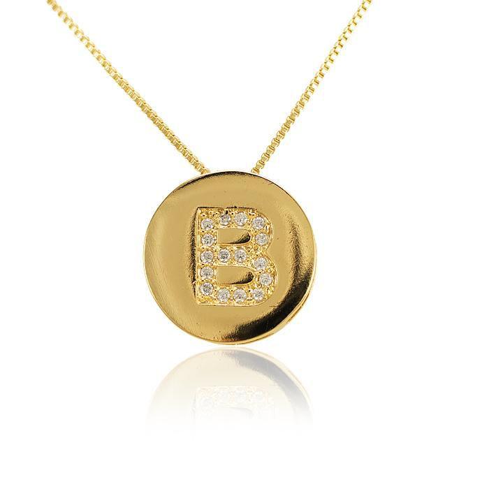Colar Letra Folheado Ouro 18K Inspired Thássia Nav