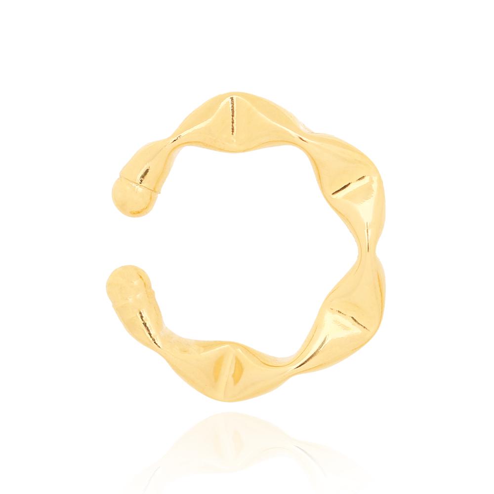 Piercing fake Amassado Grande Folheado Ouro 18K