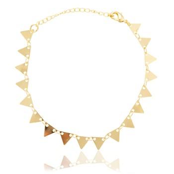 Pulseira Folheado Ouro 18K Triângulos Lisos