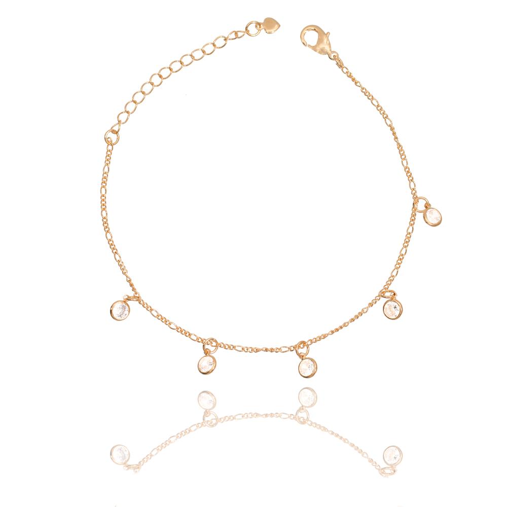 Pulseira Tiffany Pendurados Folheado Ouro 18K
