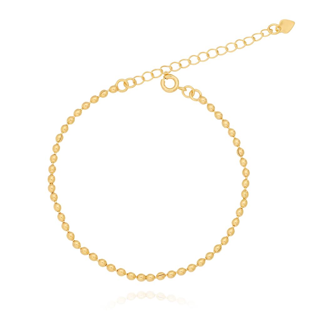 Pulseiras ABS Pequenos Semijoia Ouro 18K