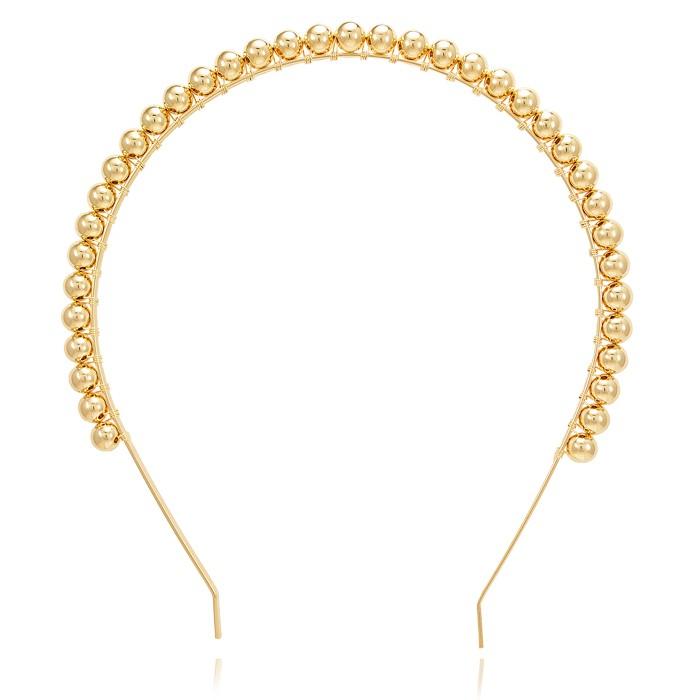 Tiara Folheado Ouro 18K com ABS