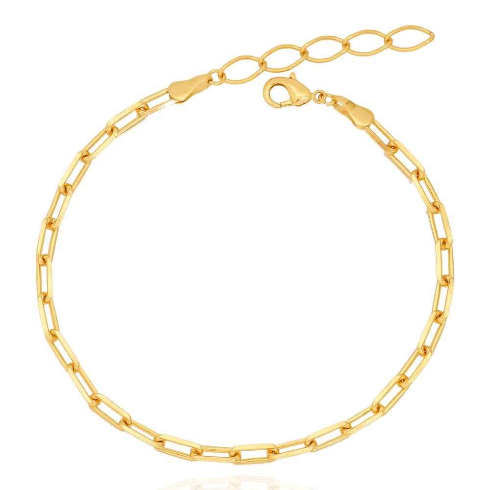 Tornozeleira Corrente Cartier Folheado Ouro 18K