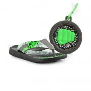 Chinelo Avangers Splash Preto Cinza Verde - 22162