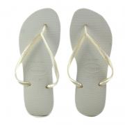 Chinelo Feminino Havaianas Branco Slim - 4000030