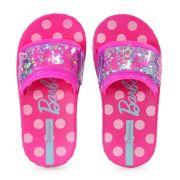 Chinelo Grendene Barbie Slide Infantil Meninas Rosa Rosa-26162