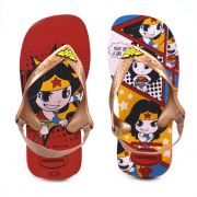 Chinelo Havaianas Baby Herois Infantil Meninas Vermelho Rubi Rose-4139475