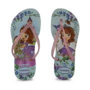 Chinelo Havaianas Kids Slim Princesa Sofia Infantil Meninas Azul Agua-4137199