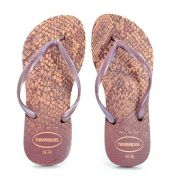 Chinelo Havaianas Slim Animals Rosa Crocus - 4103352