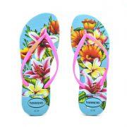 Chinelo Havaianas Slim Floral Azul - 4129848