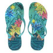 Chinelo Havaianas Slim Tropical Verde Pastel - 4122111