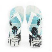 Chinelo Havaianas Surf Branco Branco Preto - 4000047