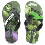 Chinelo Infantil Avengers Infinity Verde Preto - 25956