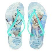 Chinelo Infantil Havaianas Kids Frozen Ice Blue - 4132925