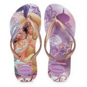 Chinelo Infantil Havaianas Kids Slim Princesa Jasmine Lilas Soft - 4123328