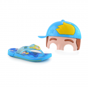 Chinelo Infantil Menino Luccas Neto Azul Amarelo - 22274