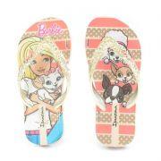 Chinelo Ipanema Barbie Glamour Infantil Meninas Bege Ouro-26152