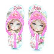 Chinelo Ipanema Jolie Amor Infantil Meninas Azul Lilas-26181