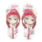 Chinelo Ipanema Jolie Amor Infantil Meninas Rosa Bordo-26181