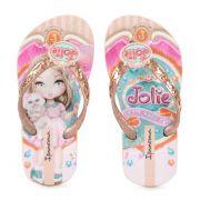 Chinelo Ipanema Jolie Amor Infantil Meninas Rosa Rosa Bronze-26181