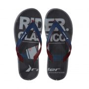 Chinelo Rider R1 Energy Preto Bordo Azul - 10719