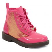 Coturno Grendene Barbie Fashion Infantil Meninas Marrom Rosa-21571