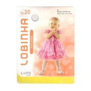Meia Calça Infantil Lobinha Lupo Branca - 2571-001