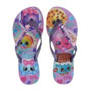 Rasteira Infantil Shopkins Funtastic Violeta Lilas - 21884