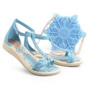 Sandalia Grendene Frozen Glossy Bag Infantil Meninas Bege Azul-21508