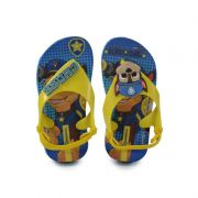 Sandalia Grendene Ipanema Infantil Meninos Patrulha Canina Azul Amarelo-26124