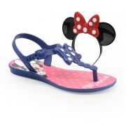 Sandalia Grendene Minnie Bow Fever Infantil Meninas Azul Rosa-21887