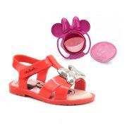 Sandalia Grendene Minnie Magic Infantil Meninas Vermelho Rosa-21843