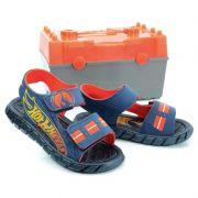 Sandália Infantil Hot Wheels Azul Laranja - 21383