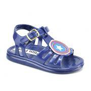 Sandalia Infantil Plim Plim Capitao America Azul Marinho - 2717